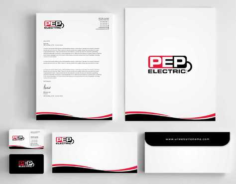 PEP Electric LLC Business Cards and Stationery  Draft # 329 by Dawson