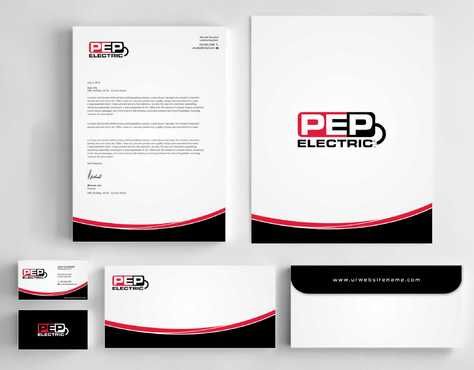 PEP Electric LLC Business Cards and Stationery  Draft # 331 by Dawson