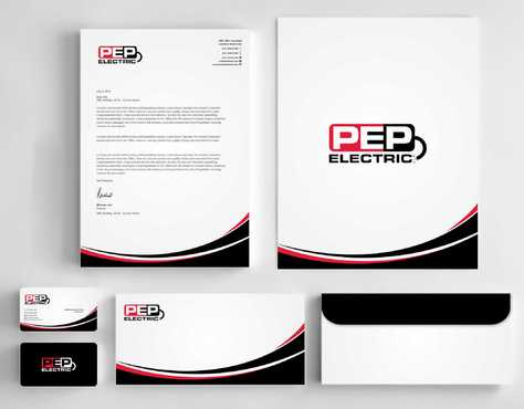 PEP Electric LLC Business Cards and Stationery  Draft # 337 by Dawson