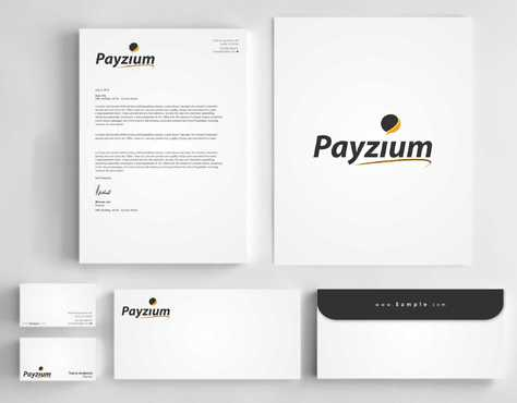 Payzium Business Cards and Stationery  Draft # 306 by Dawson