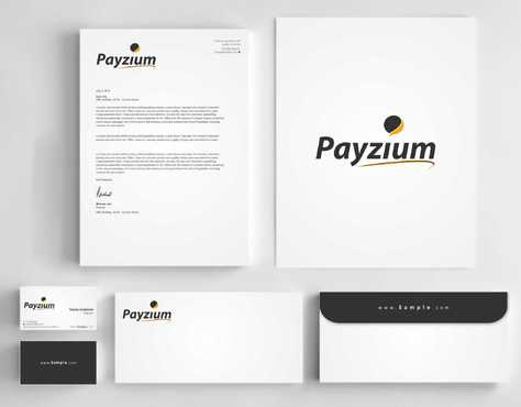 Payzium Business Cards and Stationery  Draft # 307 by Dawson