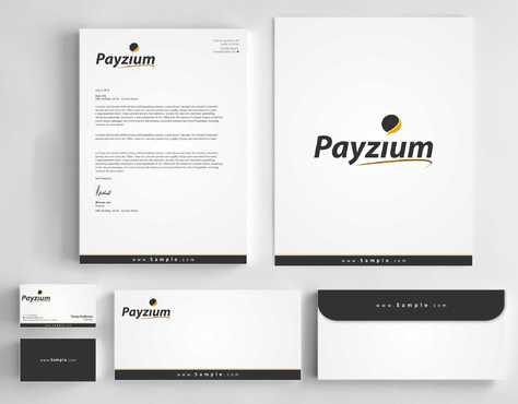 Payzium Business Cards and Stationery  Draft # 308 by Dawson