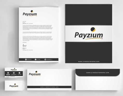 Payzium Business Cards and Stationery  Draft # 312 by Dawson