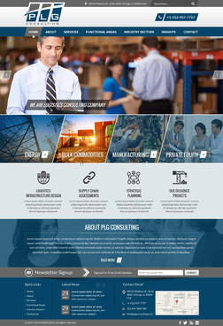 New Website for Consulting company Complete Web Design Solution  Draft # 7 by FuturisticDesign