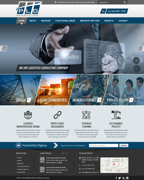 New Website for Consulting company Complete Web Design Solution  Draft # 8 by FuturisticDesign
