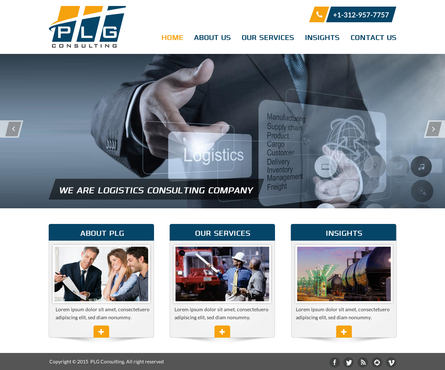 New Website for Consulting company Complete Web Design Solution  Draft # 50 by FuturisticDesign