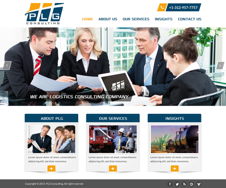 New Website for Consulting company Complete Web Design Solution  Draft # 51 by FuturisticDesign