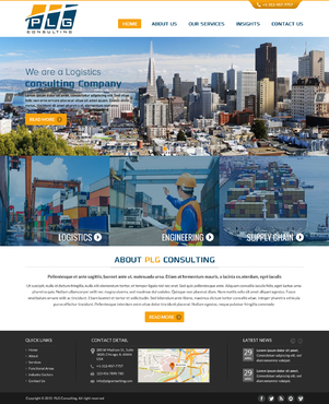 New Website for Consulting company Complete Web Design Solution  Draft # 55 by FuturisticDesign