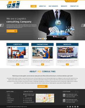 New Website for Consulting company Complete Web Design Solution  Draft # 56 by FuturisticDesign