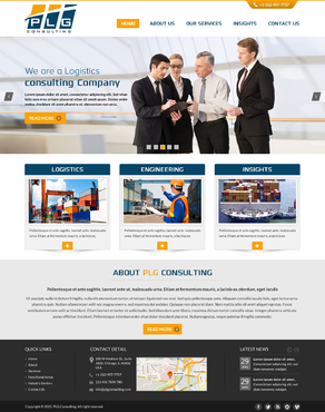 New Website for Consulting company Complete Web Design Solution  Draft # 57 by FuturisticDesign