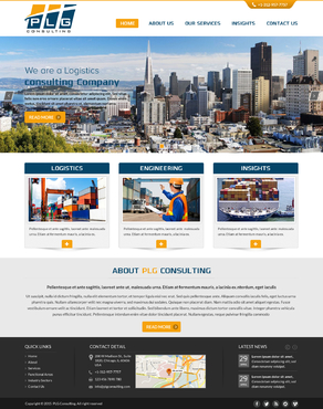 New Website for Consulting company Complete Web Design Solution  Draft # 58 by FuturisticDesign