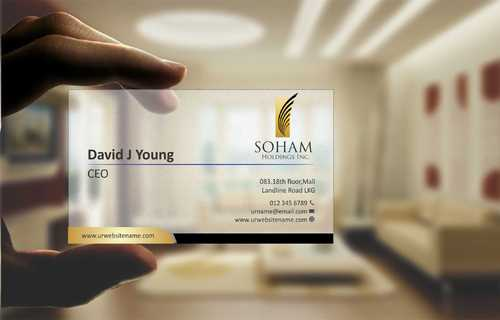 SOHAM Holdings Inc. Business Cards and Stationery  Draft # 269 by Dawson