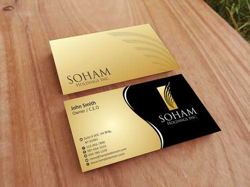 SOHAM Holdings Inc. Business Cards and Stationery  Draft # 277 by Dawson