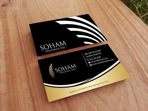 SOHAM Holdings Inc. Business Cards and Stationery  Draft # 285 by Dawson