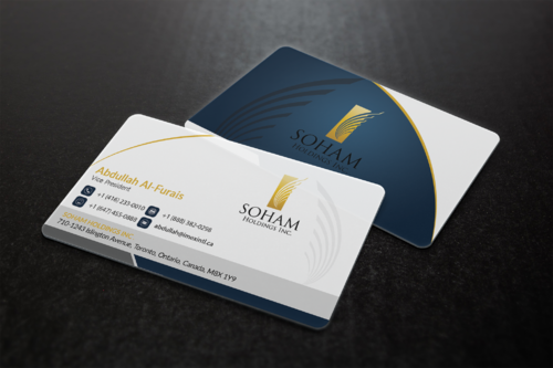 SOHAM Holdings Inc. Business Cards and Stationery  Draft # 297 by ideagigs