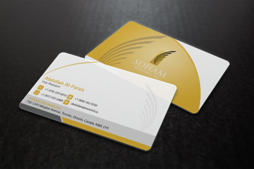 SOHAM Holdings Inc. Business Cards and Stationery  Draft # 298 by ideagigs