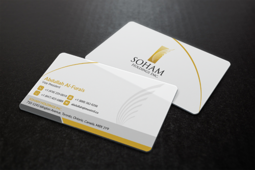 SOHAM Holdings Inc. Business Cards and Stationery  Draft # 299 by ideagigs