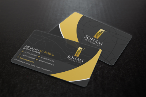 SOHAM Holdings Inc. Business Cards and Stationery  Draft # 301 by ideagigs