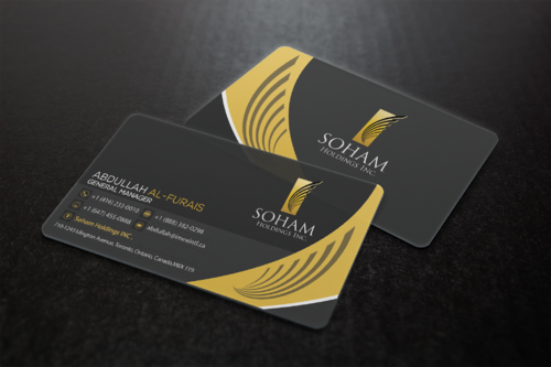 SOHAM Holdings Inc. Business Cards and Stationery  Draft # 303 by ideagigs