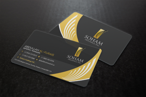 SOHAM Holdings Inc. Business Cards and Stationery  Draft # 304 by ideagigs
