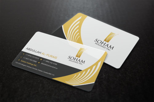 SOHAM Holdings Inc. Business Cards and Stationery  Draft # 305 by ideagigs