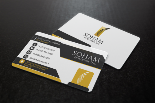 SOHAM Holdings Inc. Business Cards and Stationery  Draft # 306 by ideagigs