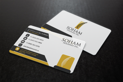 SOHAM Holdings Inc. Business Cards and Stationery  Draft # 307 by ideagigs
