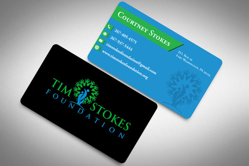 Tim Stokes Foundation  Business Cards and Stationery  Draft # 103 by rasix