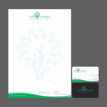 Tim Stokes Foundation  Business Cards and Stationery  Draft # 128 by graphikjam
