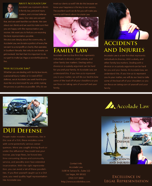 Accolade Law Marketing collateral  Draft # 64 by FEGHDD