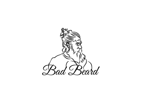 """Bad Beard"" Or, it could live without text at all. Maybe even just a BB. A Logo, Monogram, or Icon  Draft # 11 by kinsey"