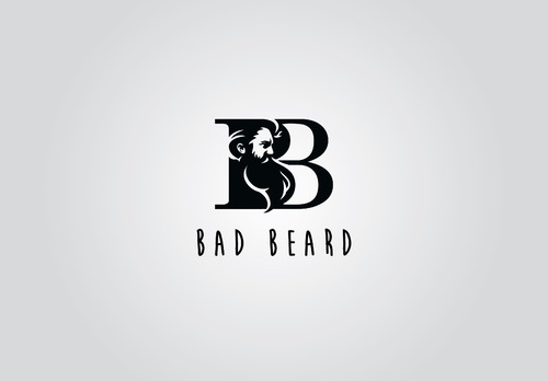 """Bad Beard"" Or, it could live without text at all. Maybe even just a BB. A Logo, Monogram, or Icon  Draft # 28 by myhands"