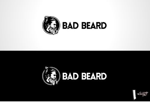 """Bad Beard"" Or, it could live without text at all. Maybe even just a BB. A Logo, Monogram, or Icon  Draft # 46 by sway99"