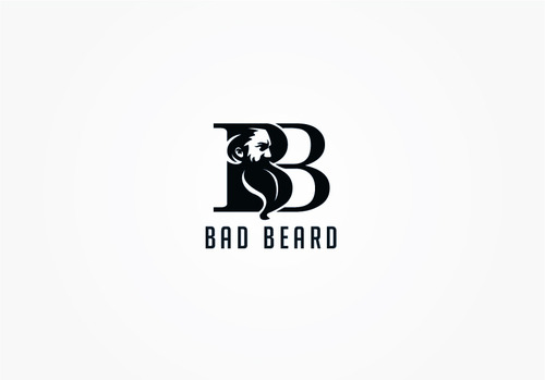 """Bad Beard"" Or, it could live without text at all. Maybe even just a BB. Logo Winning Design by myhands"