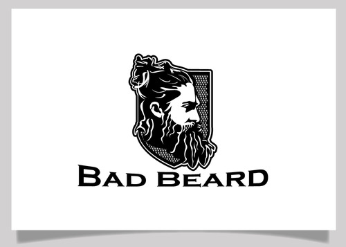 """Bad Beard"" Or, it could live without text at all. Maybe even just a BB. A Logo, Monogram, or Icon  Draft # 55 by EXPartLogo"