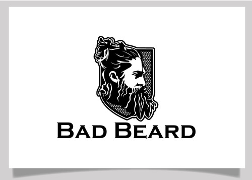"""Bad Beard"" Or, it could live without text at all. Maybe even just a BB. A Logo, Monogram, or Icon  Draft # 56 by EXPartLogo"