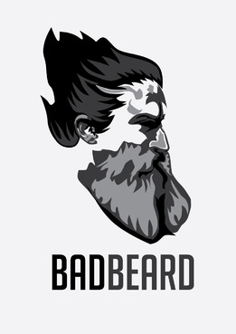 """Bad Beard"" Or, it could live without text at all. Maybe even just a BB. A Logo, Monogram, or Icon  Draft # 66 by eisyandina"