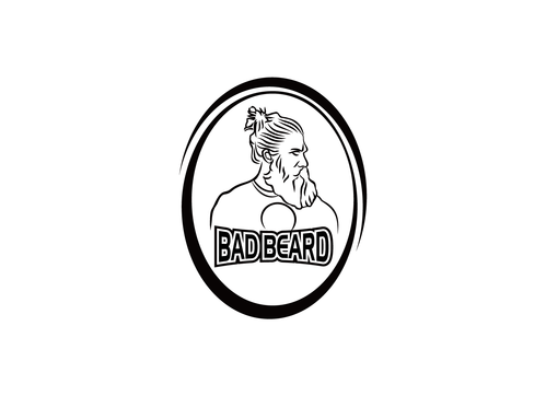 """Bad Beard"" Or, it could live without text at all. Maybe even just a BB. A Logo, Monogram, or Icon  Draft # 71 by kinsey"