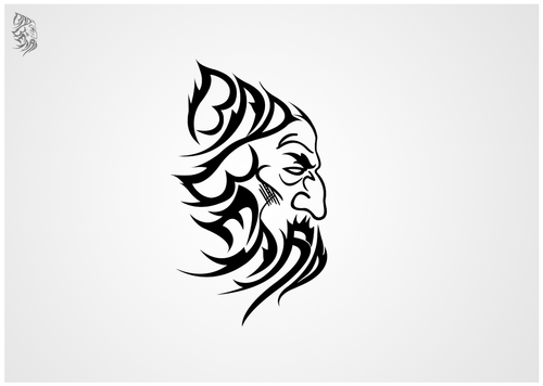 """Bad Beard"" Or, it could live without text at all. Maybe even just a BB. A Logo, Monogram, or Icon  Draft # 92 by sp0605"