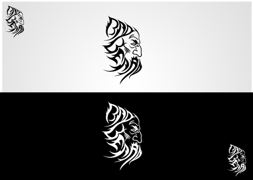 """Bad Beard"" Or, it could live without text at all. Maybe even just a BB. A Logo, Monogram, or Icon  Draft # 93 by sp0605"