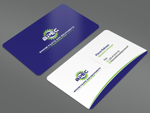 Bridge Parts and Equipments Corporation Business Cards and Stationery  Draft # 7 by ArtworksKingdom