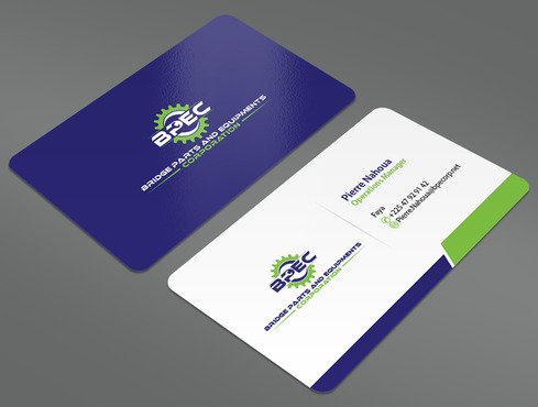 Bridge Parts and Equipments Corporation Business Cards and Stationery  Draft # 11 by ArtworksKingdom