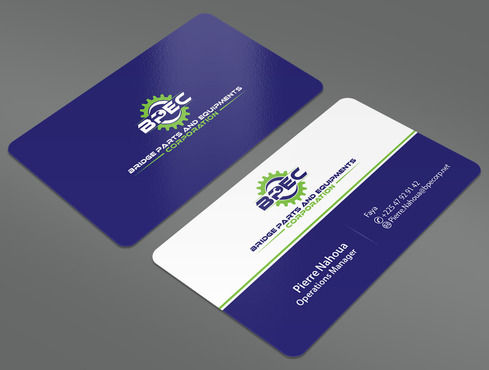 Bridge Parts and Equipments Corporation Business Cards and Stationery  Draft # 15 by ArtworksKingdom