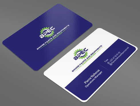 Bridge Parts and Equipments Corporation Business Cards and Stationery  Draft # 16 by ArtworksKingdom
