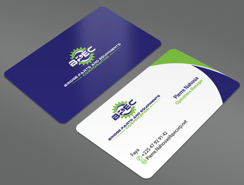 Bridge Parts and Equipments Corporation Business Cards and Stationery  Draft # 34 by ArtworksKingdom