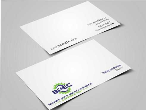 Bridge Parts and Equipments Corporation Business Cards and Stationery  Draft # 225 by Dawson