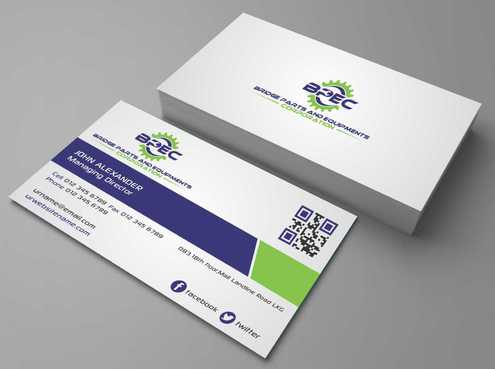 Bridge Parts and Equipments Corporation Business Cards and Stationery  Draft # 229 by Dawson