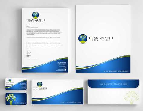 Business Card, 2-Pocket Folder, Letterhead  Business Cards and Stationery  Draft # 245 by Dawson
