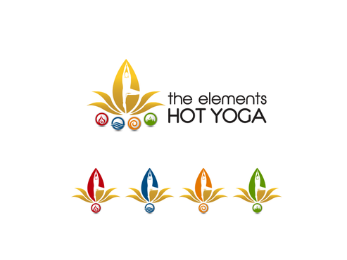 The Elements Hot Yoga Logo Winning Design by falconisty