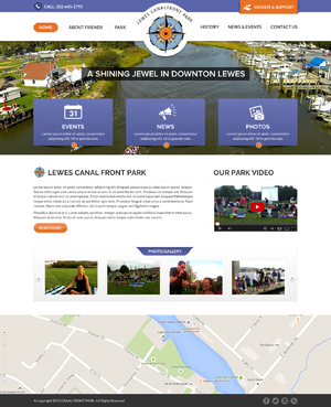 Lewes canal front park Blog Design Template Winning Design by FuturisticDesign